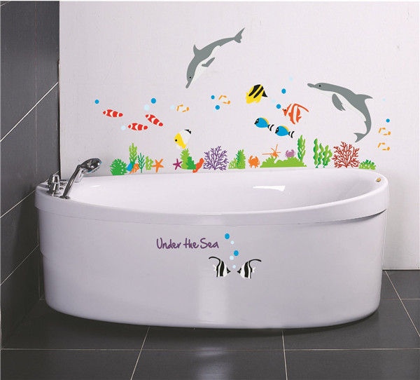wall stickers home decor sea bathroom decor dolphin fish home sweet home wall sticker decals