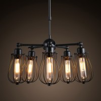 Black iron chandelier lustre abajur american country style ...