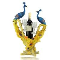 fashion peacock wine holder/resin wine bottle holders ...