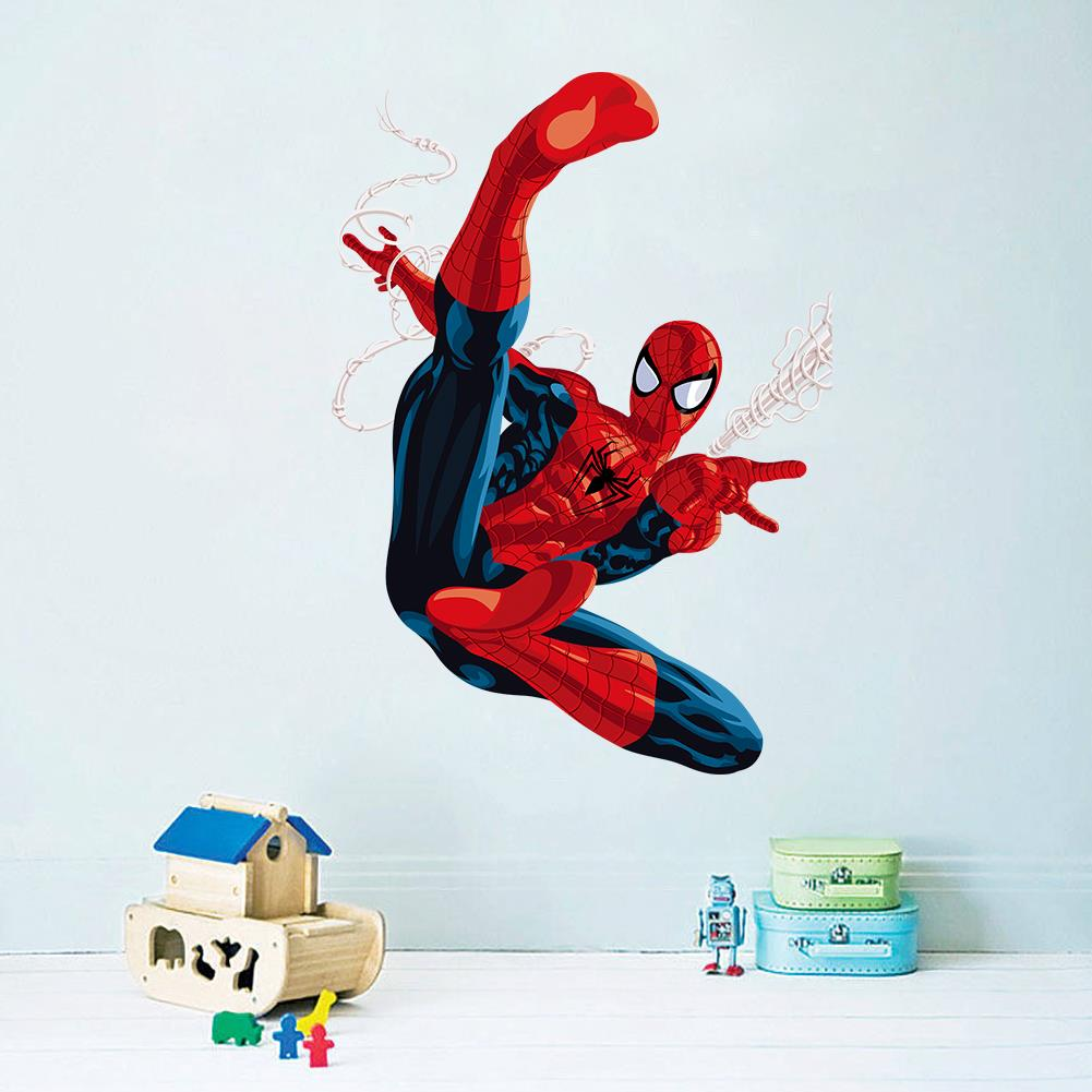 cartoon spiderman wall stickers kids rooms children room wall wall sticker ideas kids rooms country home design ideas