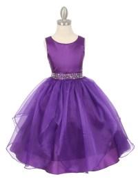 2016 Newest Purple Flower Girls Dresses With Crystal Sash
