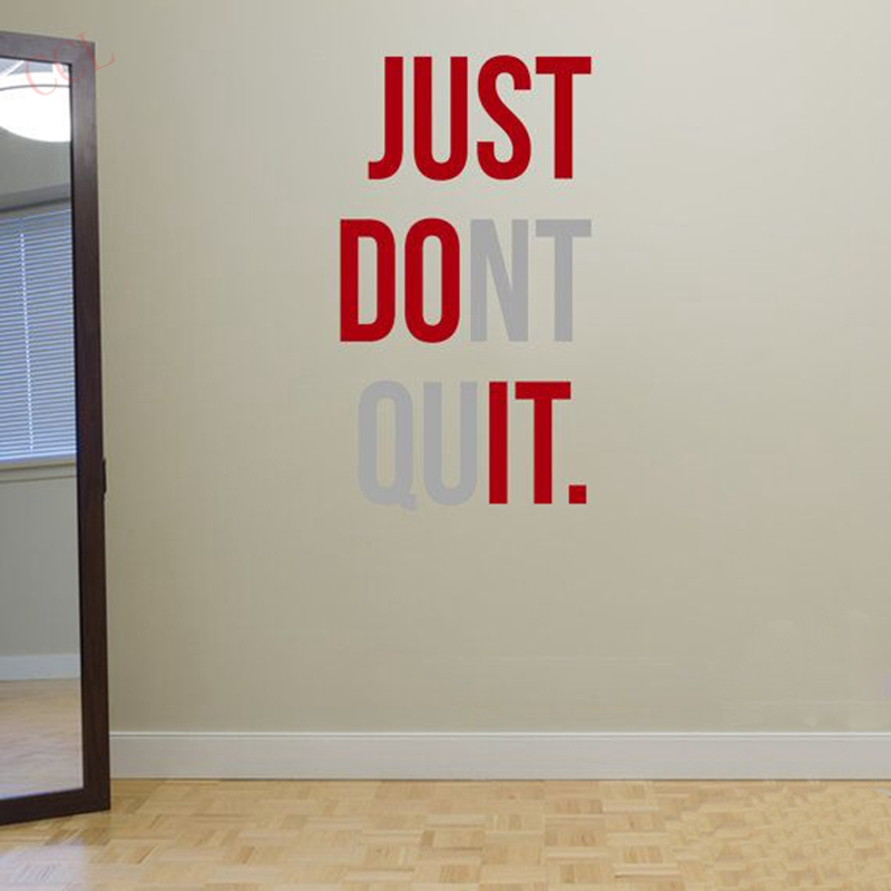 dont quit gym workout motivation quote words vinyl wall art sticker benefits inspirational wall art stickers inspirational wall art
