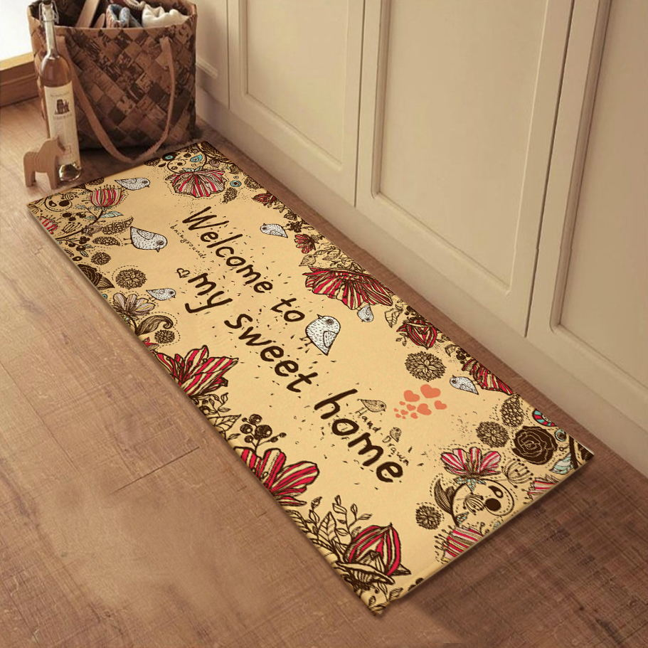 Welcome Home Mat Set Polyester Cotton Bathroom Rugs And Carpets Decorative For Living Room Front Floor