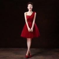 Short Dark Red Bridesmaid Dresses