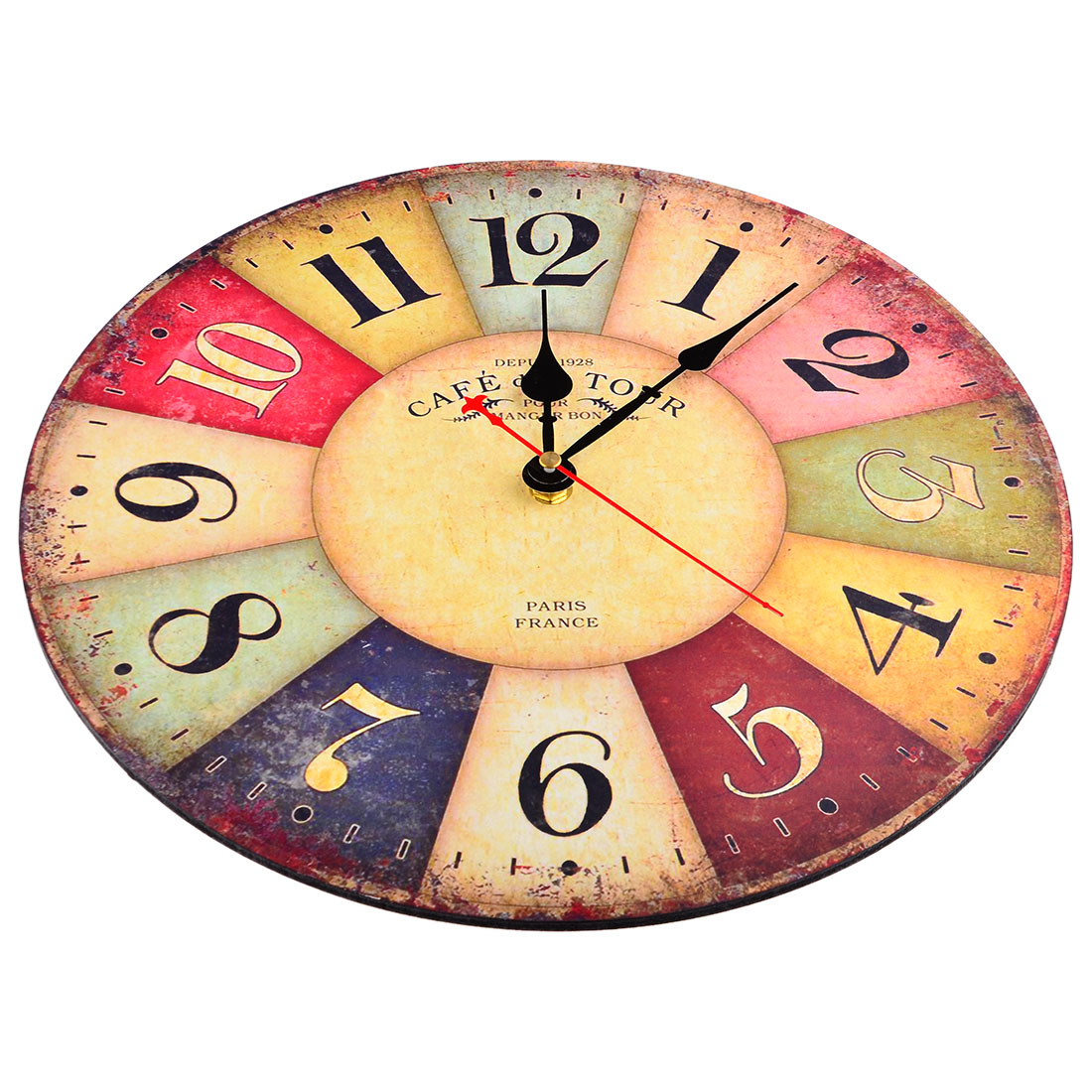 Cheap Wall Clocks Online Wholesale Retro 12 Inch Wall Clock Vintage Colorful