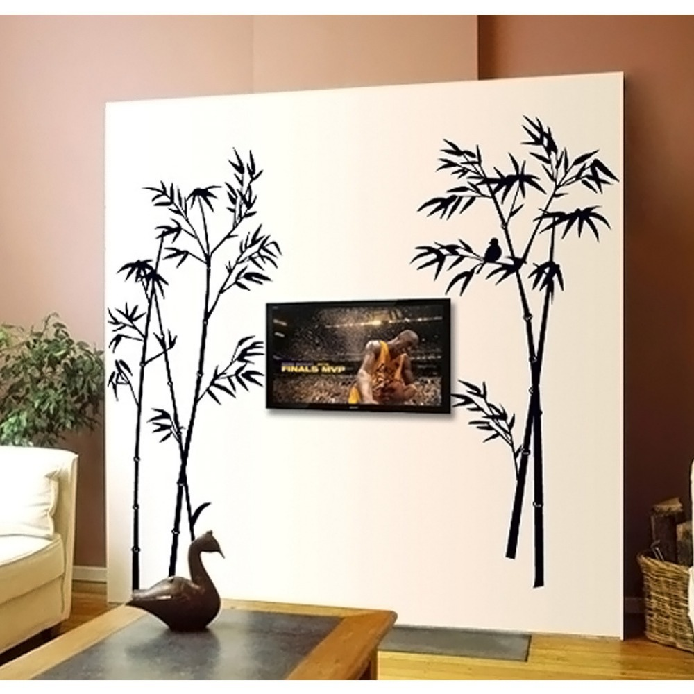 bamboo wall stickers decoration living room stikers wall stickers home wall sticker decor beautiful wall sticker decoration
