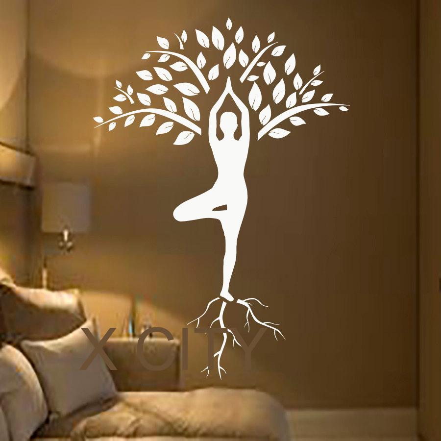 tree wall decals art gymnast decal yoga meditation vinyl stickers gym pics photos decal vinyl wall decals