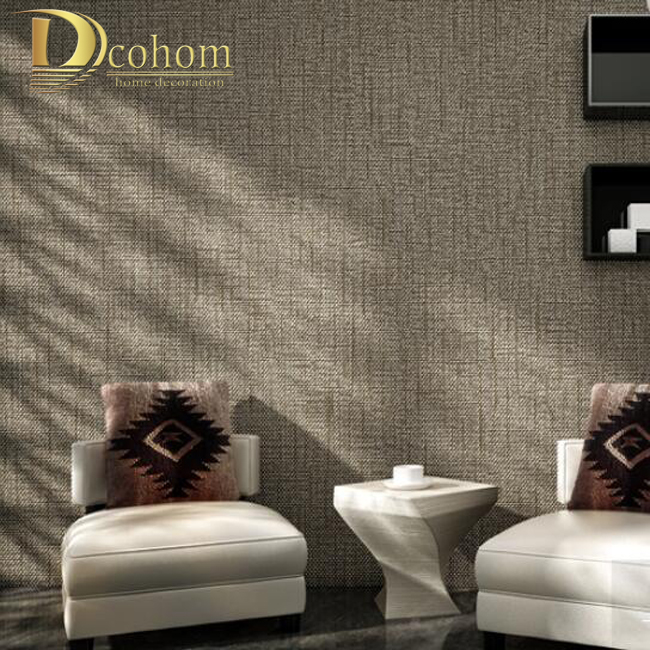 Modern minimalist solid color textured wallpaper for walls