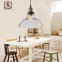 Crystal Glass Lampshade Pendant Light Modern Dining Room ...