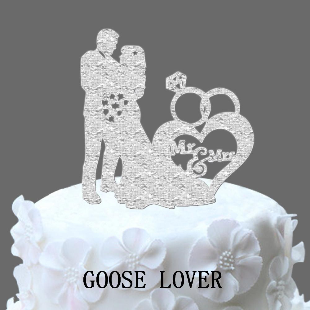 Funny Sexy Rhinestone Wedding Rings Cake Topper p wedding ring cake topper
