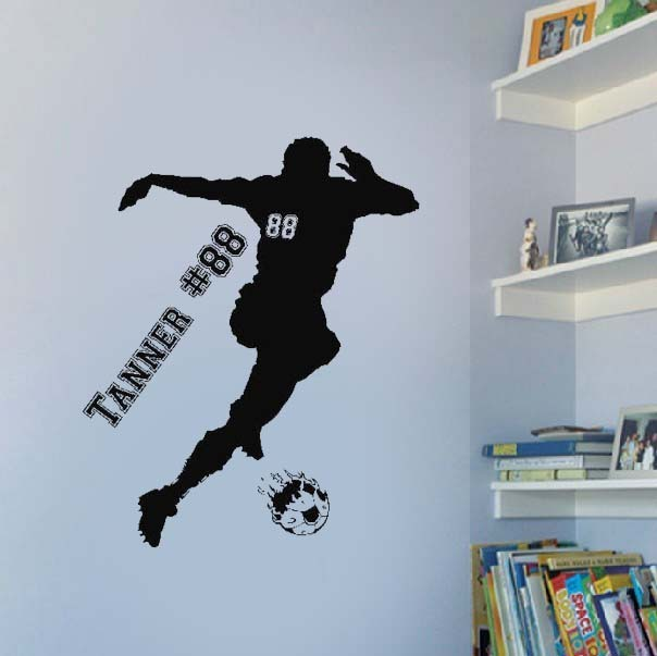 custom soccer player wall art stickers quote bedroom decoration custom wall decals quotes quotesgram