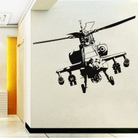 Vinyl-Adhesive-Home-Decor-Military-Helicopter-Wall-Sticker ...