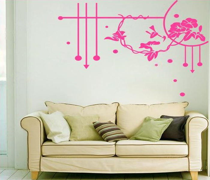 flower vinyl wall art stickers home decor wall decal leaves wall floral leaves flowers wall art stickers wall decal transfers ebay