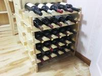 Wooden Wine Rack DIY Assemble Wine Shelf Wood Holders ...