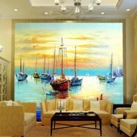 Large mural wallpaper , dining room den sofa living room ...