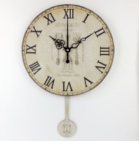 kitchen large decorative wall clock absolutely silent home ...