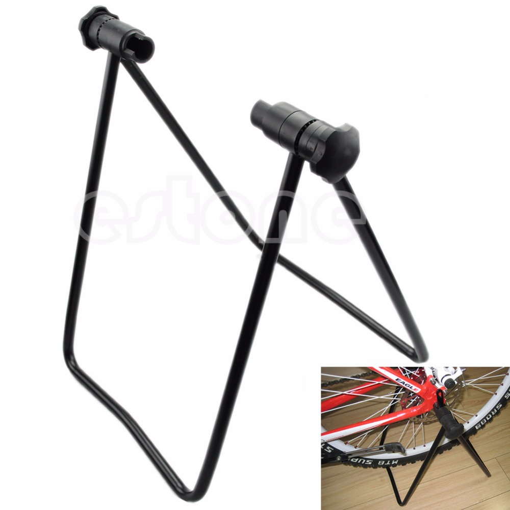 Portable-Bicycle-Bike-Folding-Wheel-Hub-Stand-Kickstand-Repair-Parking ...