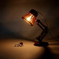 Creative Wooden Lamp PIXAR Lamp DIY Desk Table Lamp ...