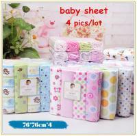 4pcs-lot-newborn-baby-bed-sheet-bedding-76x76cm-set-for ...