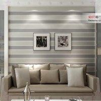 3D Wall Paper Stripe Wallpaper Striped Flocking Bedroom or ...