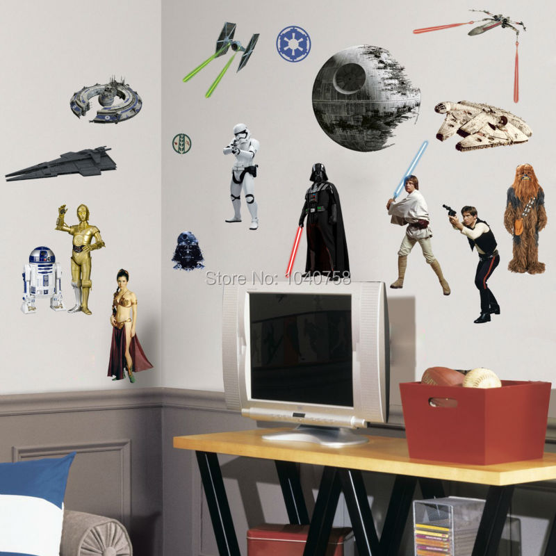 death star wars poster wall stickers movie lego wall decals art lego star wars characters decal removable wall sticker home decor
