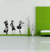 Fashion Line wall decals vinyl stickers home decor living ...