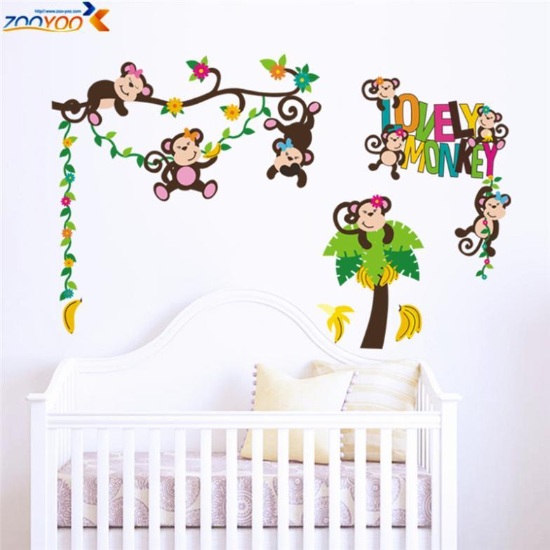 tree wall sticker baby room decorations cartoon decals kids wall baby room wall stickers baby decoration