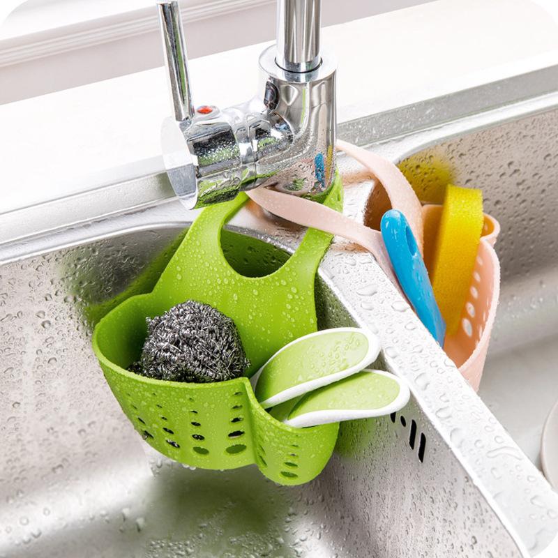 1PC Kitchen Sink Sponge Holder Bathroom Soap Hanging
