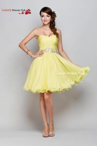 Short Yellow Bridesmaid Dresses Uk - Cheap Wedding Dresses
