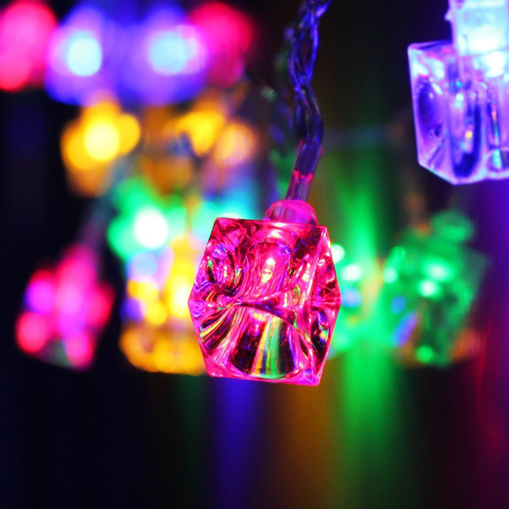 Light Decoration Diwali New Hot 20 Led 86inch Battery Operated Decorative Diwali Ice Cube String Lamp Fairy Lights Christmas Wedding Party Decorations