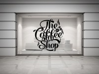 Coffee Shop Quote Vinyl Wall Decal Coffee Lettering Wall ...