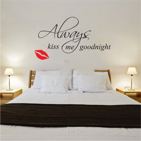 buy famous quote wall sticker kiss goodnight vinyl wall hepburn quote decal vinyl wall sticker art celebrity famous ebay