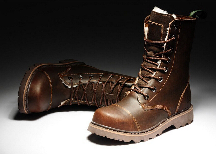 Leather Winter Boots For Men Mount Mercy University