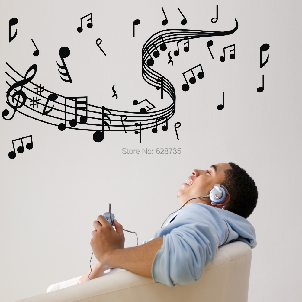 music note wall stickers vinyl wall stickers home decor music music note wall decals set wall decal world