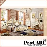 King size Luxury bedroom furniture set 1.8m big bed ...