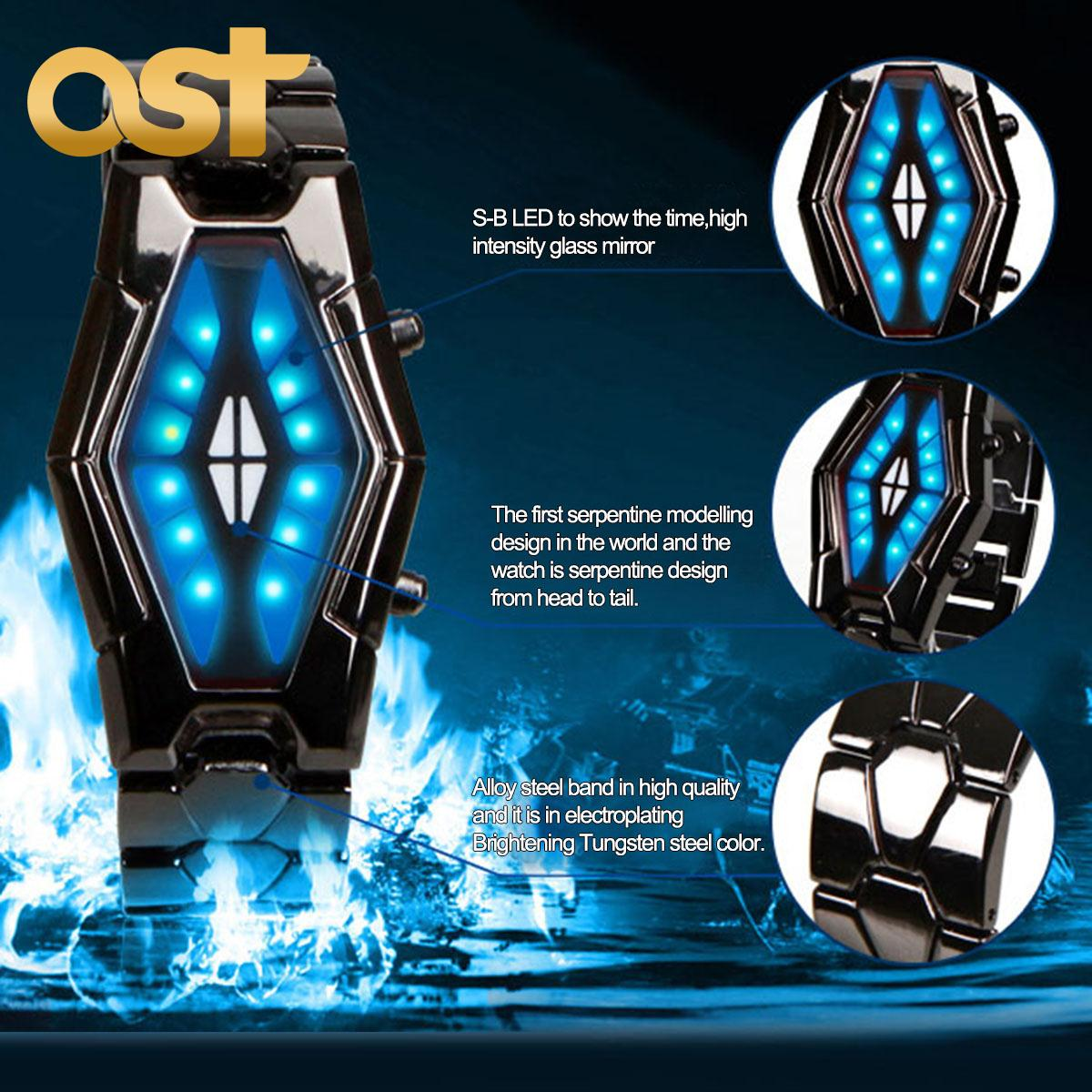 Unique Digital Watches Hot 2015 Best Dial Design Digital Led Binary Watch Men