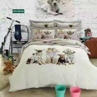 Kawaii Dog print bedding set king Queen size cartoon quilt ...