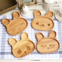 5pcs/lot Cute Children Wooden Tray Baby Dinnerware Cartoon ...