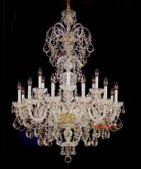 Large crystal chandelier entrance hall lighting Luxury ...