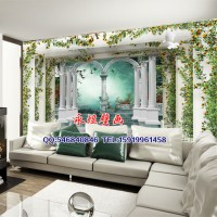 Fake palace door mural backdrop Continental ordered large ...