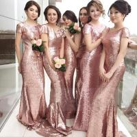 Bling Bling Rose Gold Bridesmaids Dresses 2016 Sequined ...