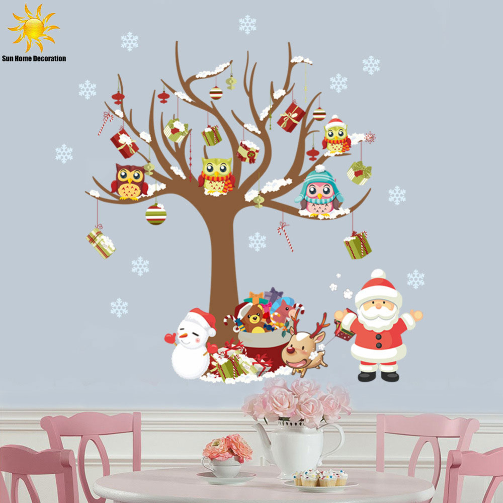 family santa owl children room bedroom wall stickers home newknowledgebase blogs bedroom wall decals kids