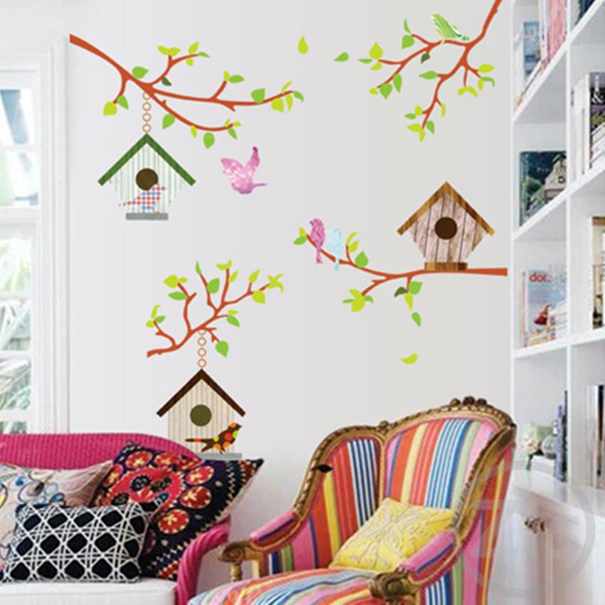 buy bird cage wall stickers cartoon home decor bird cage bird cage vinyl wall sticker bird cage vinyl wall sticker
