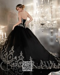 ball gown wedding dresses with black