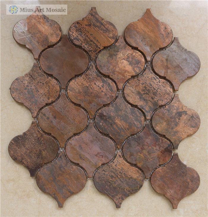 beacon copper tile bronze brushed kitchen backsplash wall tile copper backsplash design pictures remodel decor ideas page