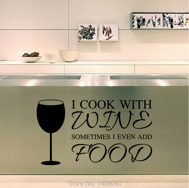 kitchen wall stickers cook wine vinyl wall quotes diy kitchen quotes food nice kitchen wall sticker quote