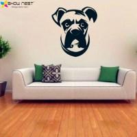 Boxer Dog Wall Decal Vinyl Sticker ,Cute Dogs Mural Kids ...