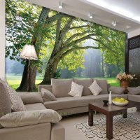 3D photo wallpaper Nature Park tree murals bedroom living ...