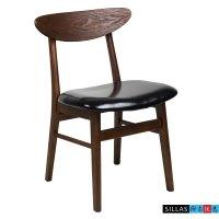 Nordic Korean black walnut wood dining chair neoclassical ...