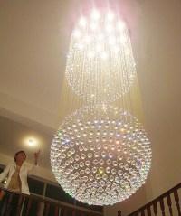 Crystal stair lamp modern crystal pendant light 2 ...